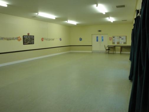 Interior of Hall Hire